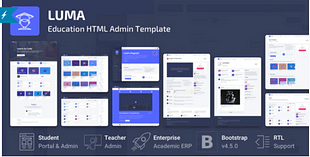 Luma - Education HTML Learning Management System Admin Template