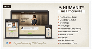 Humanity - Charity HTML5 Template