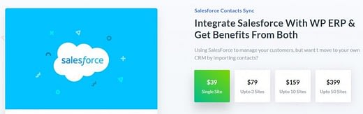 WP ERP Salesforce Contacts