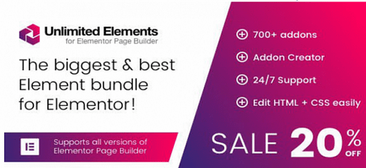 Unlimited Elements for Elementor Page