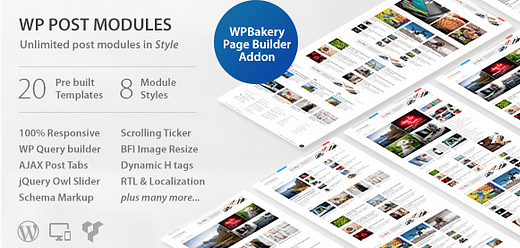 WP Post Modules for