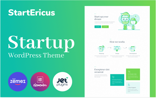 StartEricus - Clean and Minimalistic